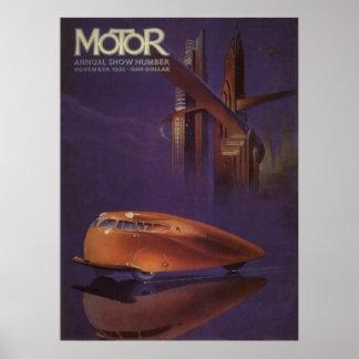 Täcker den motoriska tidskriften för vintage, poster