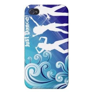 Täcker den Retro iPhonen för kall musikdans blått iPhone 4 Skal