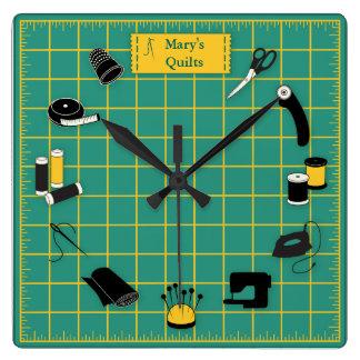 Täcket Time skräddarsy etiketten Fyrkantig Klocka