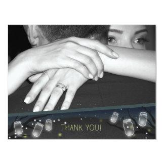 Tackfoto för Nightlights (trädgårdbröllop) 10,8 X 14 Cm Inbjudningskort