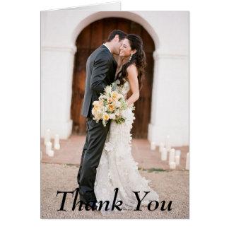 Tackfotobröllop noterar kortet OBS kort