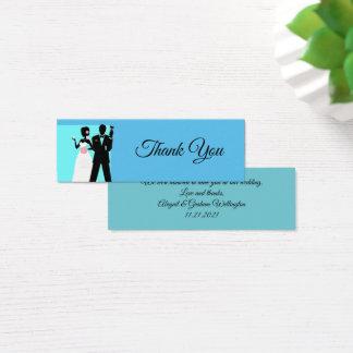 Tackfotokort för favör och gåva hänger lös litet visitkort