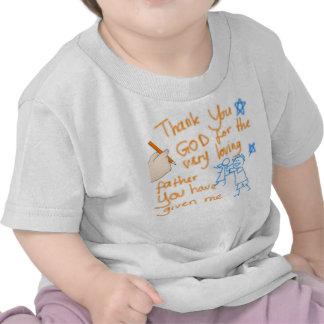 Tackgud för min far (för flickor) tröjor