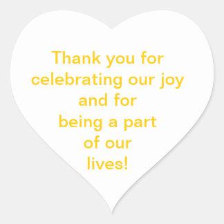 Tackklistermärkear Hjärtformade Klistermärken