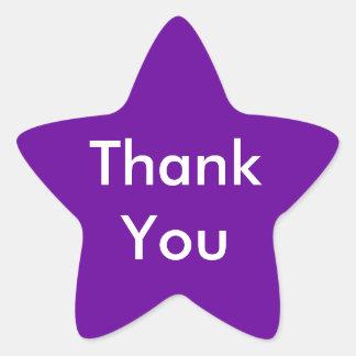 Tackklistermärkear på purpurfärgad bakgrund