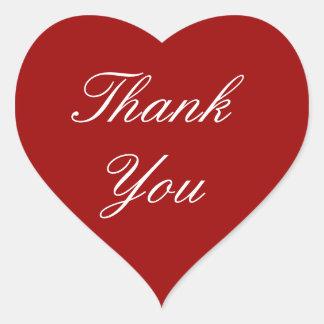 Tackklistermärkear på röd hjärta hjärtformat klistermärke