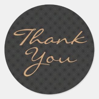Tackklistermärken/förseglar Runda Klistermärken