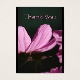Tackkort Comos och solblommigtfotografi Visitkort