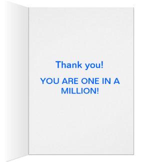 Tackkort - DU ÄR EN I A MILJON! Hälsningskort