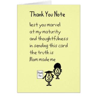 Tackkort - en studentengåva tackar dig dikt hälsningskort