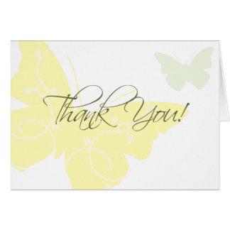Tackkort - fjärilar OBS kort