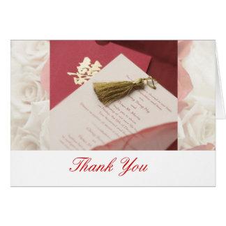 Tackkort för att gifta sig hälsningskort
