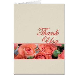 Tackkort för att gifta sig persikan och kräm