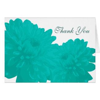 Tackkort för blomma (blått) OBS kort