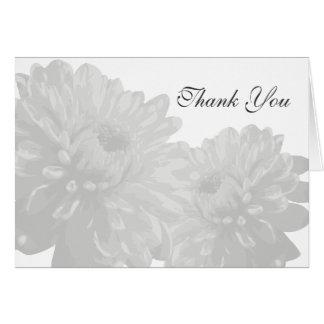 Tackkort för blomma (vit) OBS kort
