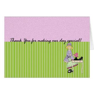 Tackkort för brudtärnan - brölloptack kort