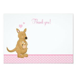 Tackkort för kängurumamma- och babylägenhet 12,7 x 17,8 cm inbjudningskort