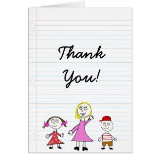 Tackkort för lärare hälsningskort