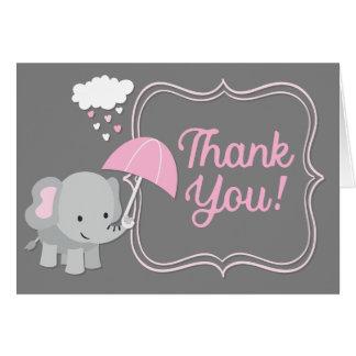Tackkort för rosor för baby shower för OBS kort