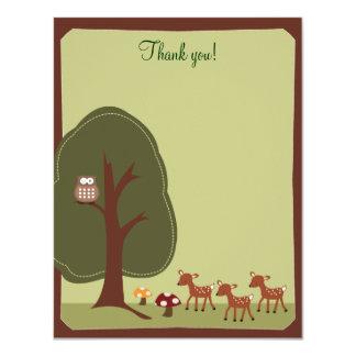 Tackkort för skogsmarkskognatur 4x5 {TBA} 10,8 X 14 Cm Inbjudningskort
