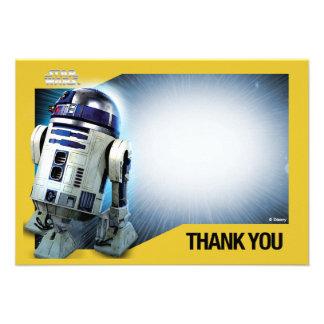 Tackkort för stjärnkrig R2-D2 Tillkännagivanden