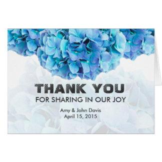 Tackkort hydrangea3 för blåttvanlig OBS kort