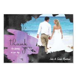 Tackkort med svart för fotovattenfärglilor 8,9 x 12,7 cm inbjudningskort