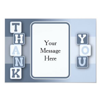 Tackkort med textramen 8,9 x 12,7 cm inbjudningskort