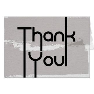 Tackkort - modern textdesign hälsningskort