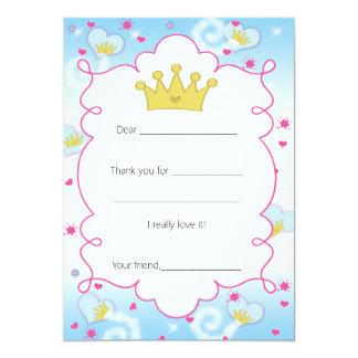 Tackkortet för Princess Fjäril fyller in 12,7 X 17,8 Cm Inbjudningskort