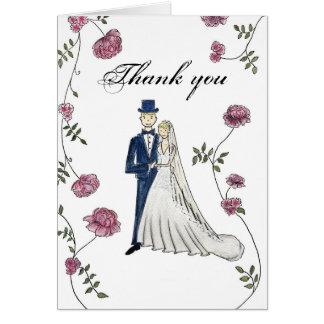 Tackkortet som gifta sig noterar hälsningskort