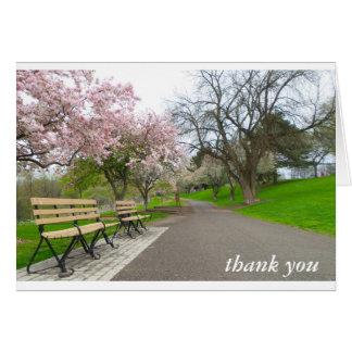 Tackkortet - tar av planet hälsningskort