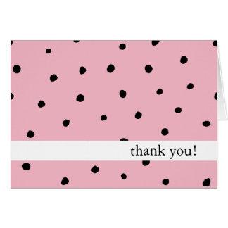 Tackkortpolkaen pricker svart och rosor hälsningskort