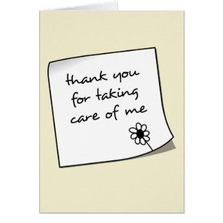 Tackkortsjuksköterska Notecard OBS Kort