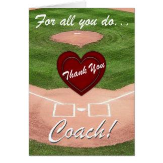 Tacklagledare! - Baseball Hälsningskort