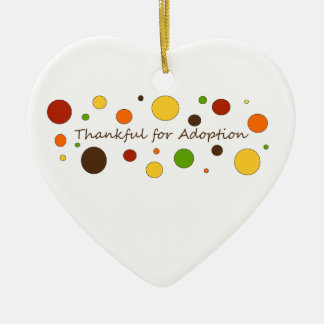 Tacksam adoption julgransprydnad keramik