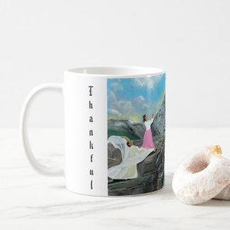 Tacksam och välsignad klassikermugg kaffemugg