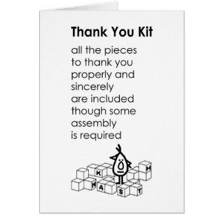 Tacksats - ett roligt tackar dig dikt hälsningskort