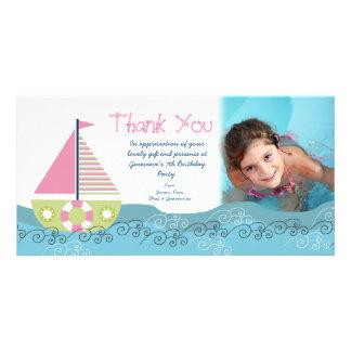 Tacksegelbåtfödelsedagsfest Photocard