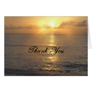 Tacksolnedgång Hälsningskort