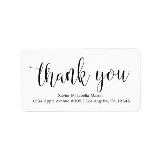 Tacksvarten skrivar - beställnings- bakgrundsfärg adressetikett
