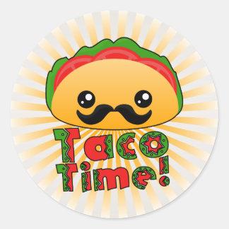 Taco Time Runt Klistermärke