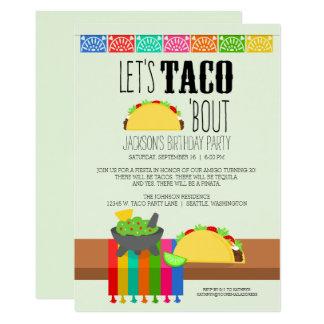 Taco'anfallfödelsedagsfest 12,7 X 17,8 Cm Inbjudningskort