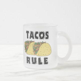 Tacos härskar frostad glasmugg