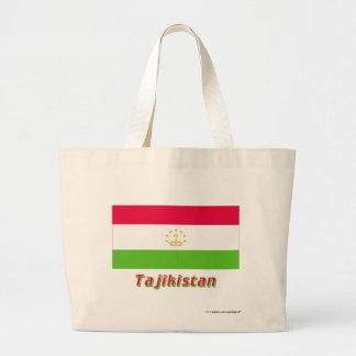 Tadzjikistan flagga med namn kasse