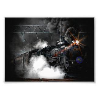 Tåg för svart för vintageångamotor rörligt
