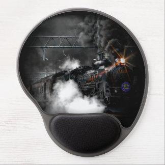 Tåg för svart för vintageångamotor rörligt gel musmatta
