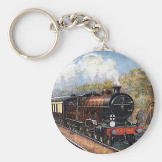 Tåg Keychain Rund Nyckelring