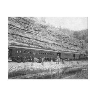 Tåg på Burlingtonen och Missouri Canvastryck