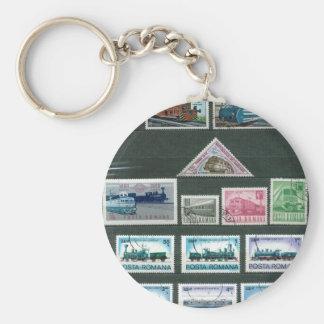 Tåg på frimärken 3 nyckelring